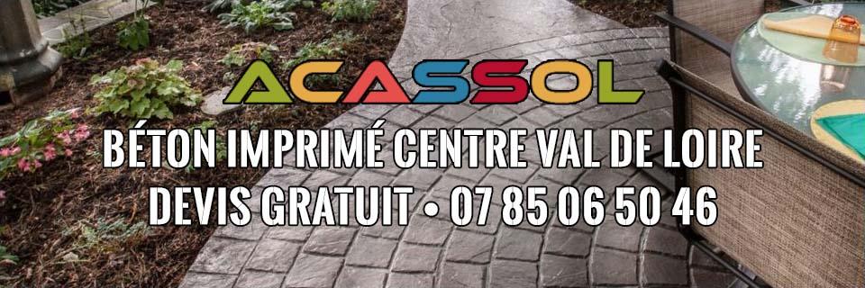 ACASSOL • Béton Imprimé Centre Val de Loire • Prix / m² 2020